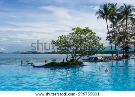 Man Made Waterfall Swimming Pool Kota Stock Photo 577650280 Shutterstock