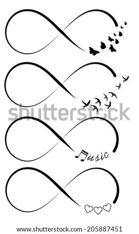 Infinity symbols - stock photo