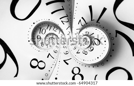 Infinity time. Digital generated - stock photo