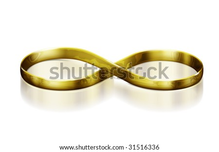 Infinity Wedding rings - stock photo