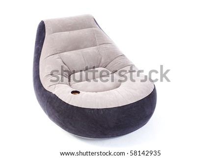 inflatable arm chair - stock photo