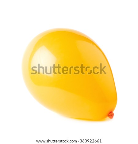 Inflated air balloon isolated - stock photo