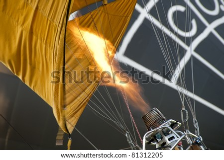 inflating balloon - stock photo