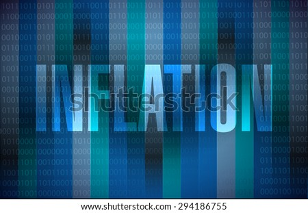 inflation binary sign concept illustration design graphic - stock photo