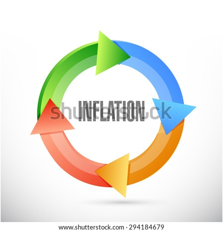 inflation cycle sign concept illustration design graphic - stock photo