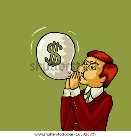 Inflation of the U.S. Dollar (Dollar inflation). World (global) economic (financial) crisis. - stock photo