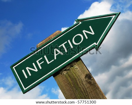 INFLATION road sign - stock photo