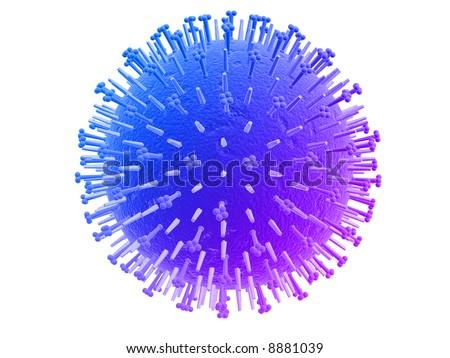 influenza virus - stock photo