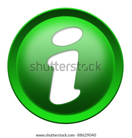 Info button isolated over white background