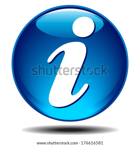 Info icon - Blue generic glossy information icon - Raster Version - stock photo