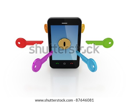 Info safety concept.Isolated on white background.3d rendered. - stock photo