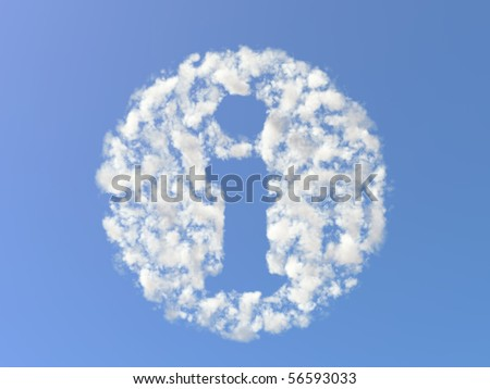 Info symbol from clouds - stock photo