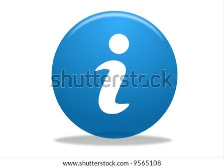 info symbol icon design - blue series - stock photo