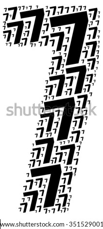 Info-text graphics and arrangement concept (word clouds) begin with Numbers isolated white background  - stock photo