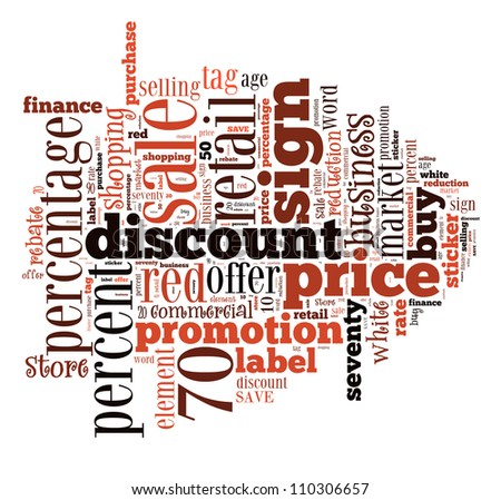infotext graphics sale composed cloud shape stock photo royalty