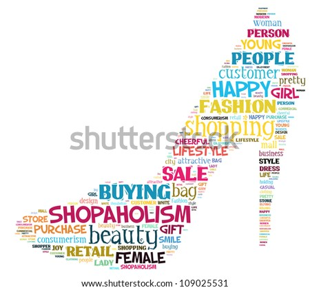 Info-text graphics Shopping composed in High heel shape concept in white background