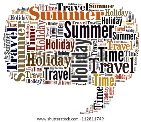 Info-text graphics Summer Holiday Travel chat balloons isolated white background