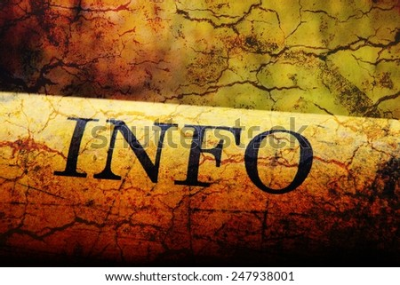 Info text on grunge background - stock photo
