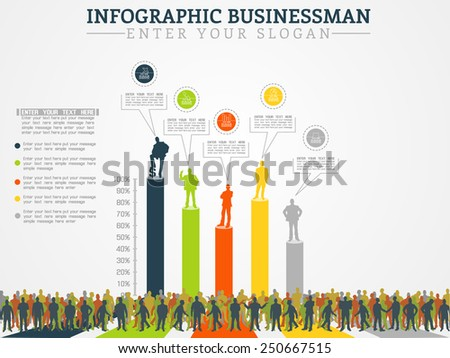 INFOGRAPHIC BUSINESSMAN ANNUAL ECONOMY THIRD EDITION - stock photo