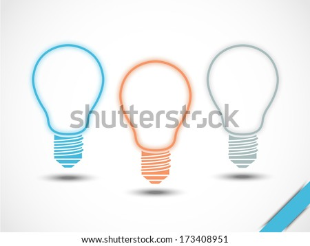 INFOGRAPHIC LAMP IDEA  - stock photo