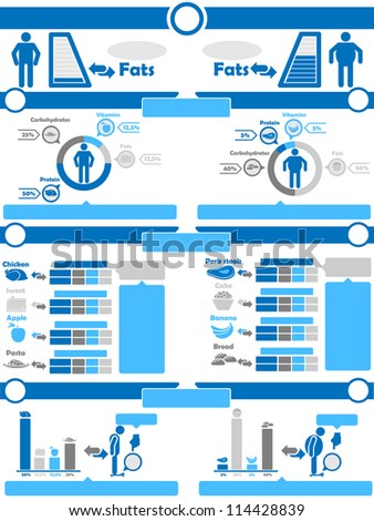 INFOGRAPHIC NUTRITION - stock photo