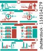 INFOGRAPHIC NUTRITION GREEN AND RED - stock vector