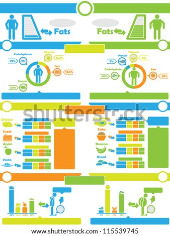 INFOGRAPHIC NUTRITION  TOY - stock photo