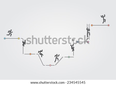 Infographic timeline elements template Raster version - stock photo
