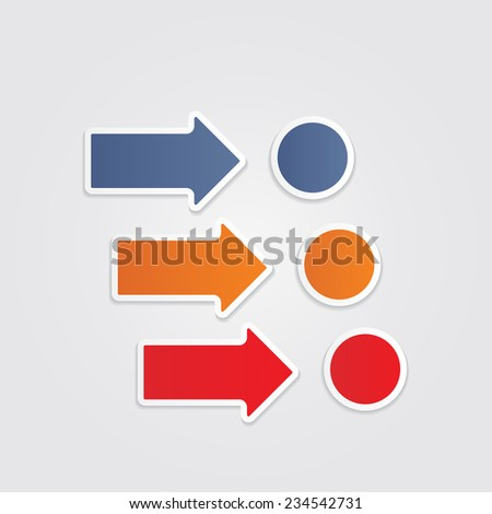 Infographics with arrows Raster version - stock photo