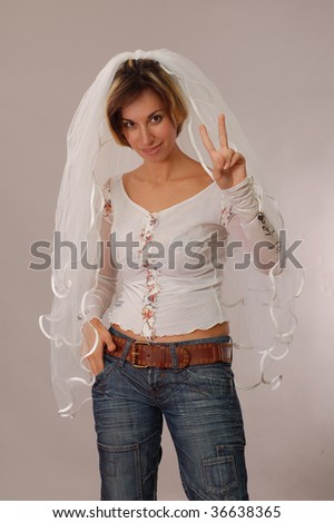 informal bride - stock photo