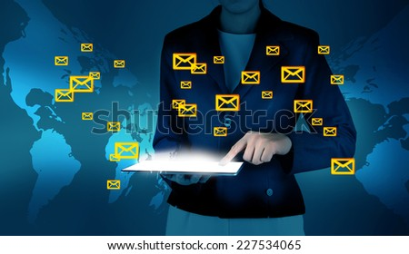 Information and emails - stock photo