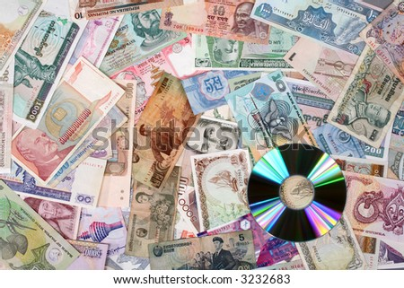 Information and money - stock photo