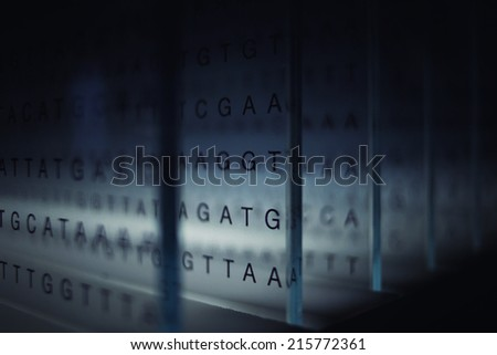 Information and technology, abstract letters background - stock photo