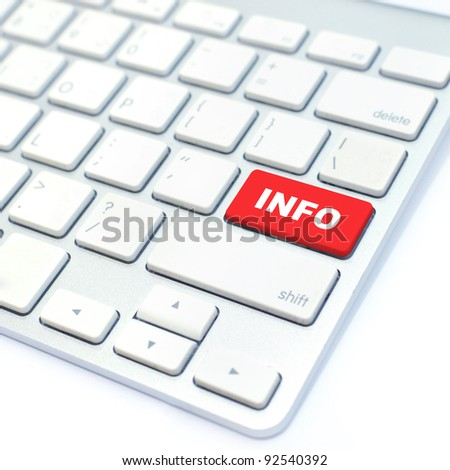information button - stock photo