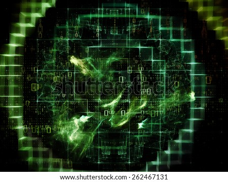 Information Cloud series. Abstract design made of connected abstract elements on the subject of cloud networking, information, data storage and modern technology - stock photo