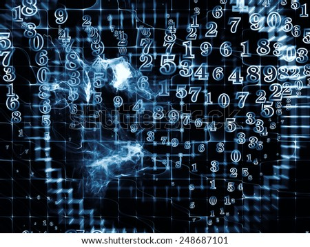 Information Cloud series. Backdrop design of connected abstract elements to provide supporting composition for works on cloud networking, information, data storage and modern technology - stock photo