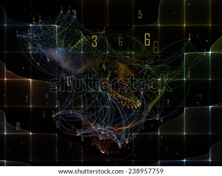 Information Cloud series. Background composition of  connected abstract elements to complement your layouts on the subject of cloud networking, information, data storage and modern technology - stock photo