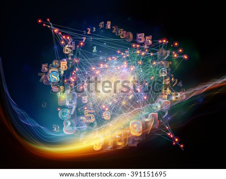 Information Cloud series. Design composed of connected abstract elements as a metaphor on the subject of cloud networking, information, data storage and modern technology