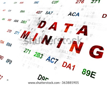 Information concept: Data Mining on Digital background - stock photo