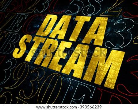 Information concept: Data Stream on Digital background - stock photo
