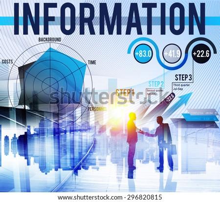 Information Data Global Communication Media Concept - stock photo