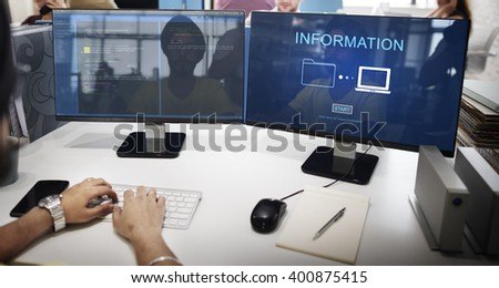 Information Details Facts Communication Sharing Concept - stock photo