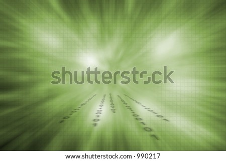 Information flow - stock photo