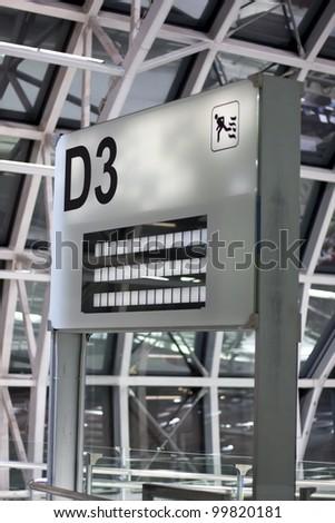 Information Flughafen und Bahnhof - stock photo