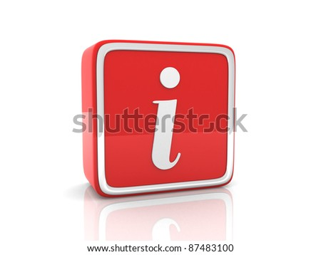 Information icon. 3d render - stock photo