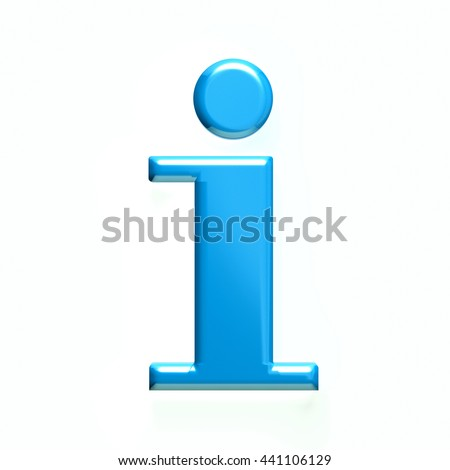 Information icon. 3D rendering illustration - stock photo