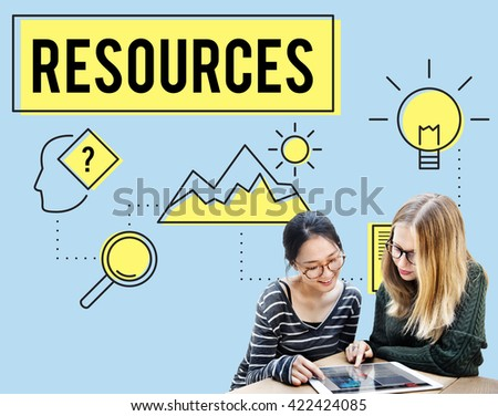 Information Knowledge Resource Data Facts Concept - stock photo