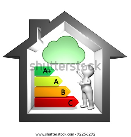 Information labeling index of dangerous substances emissions into indoor air - stock photo