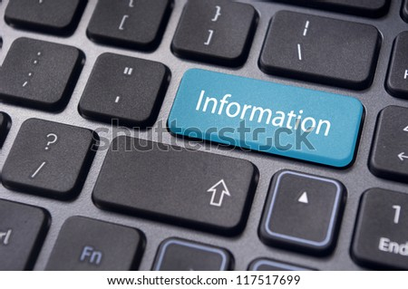 information message on enter key of keyboard, for conceptual usage.