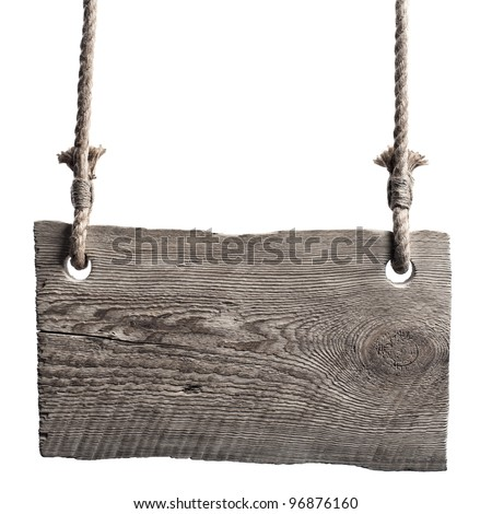 Information old board on the isolated white background - stock photo